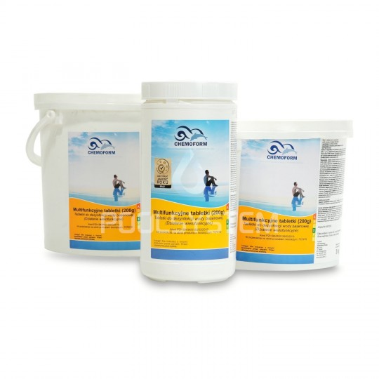 Lampa basenowa Tebas Euro White Edition ramka biała 300W, 12V (komplet)