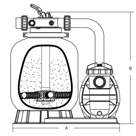 Poręcz do drabinki basenowej AstralPool dzielonej 470 x 800 pionowa