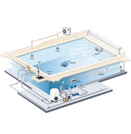 установка традиционных бетонных бассейнов